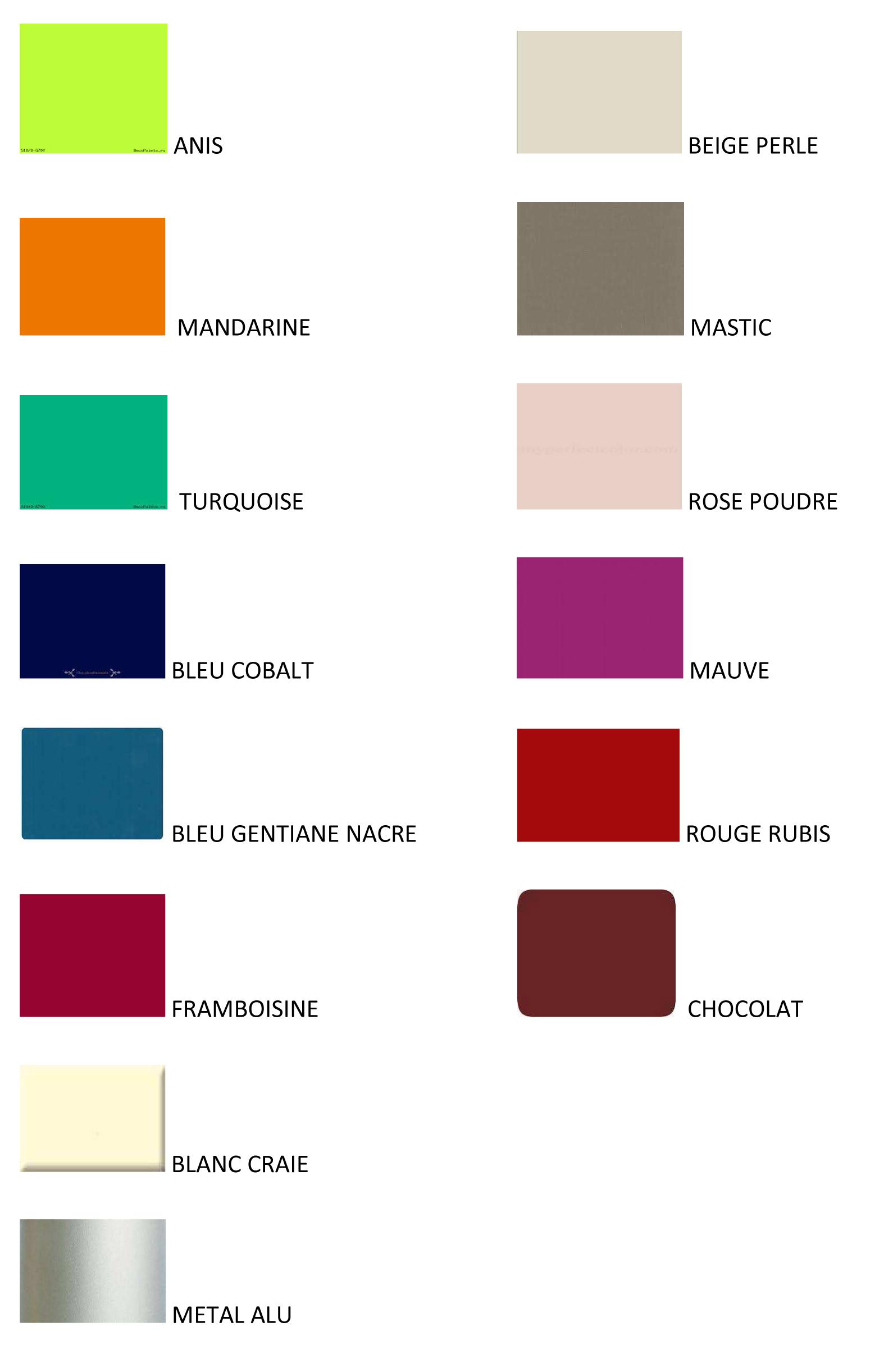 Nuancier Couleur Chocolat dedans peinture spéciale meubles en carton - atelier feel free